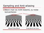 sampling and anti aliasing