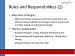 roles and responsibilities 1