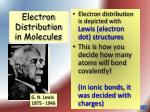 electron distribution in molecules