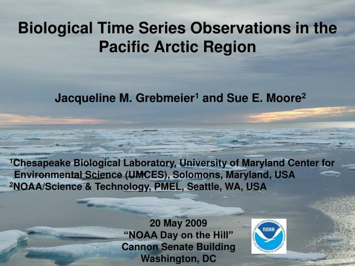 biological time series observations in the pacific arctic region n.