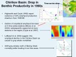 chirikov basin drop in benthic productivity in 1990s