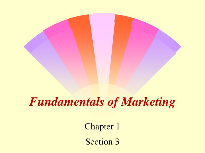 fundamentals of marketing n.