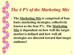 the 4 p s of the marketing mix