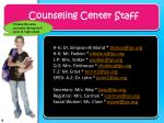 counseling center staff