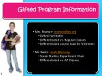 gifted program information