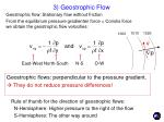 3 geostrophic flow