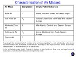 characterisation of air masses