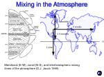 mixing in the atmosphere