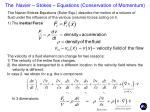 the navier stokes equations conservation of momentum