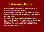 externalizing behaviors
