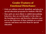 gender features of emotional disturbance1