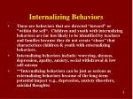 internalizing behaviors