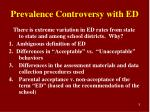 prevalence controversy with ed