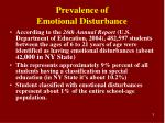 prevalence of emotional disturbance