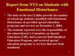 report from nys on students with emotional disturbance