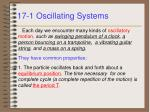 17 1 oscillating systems