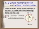 17 6 simple harmonic motion and uniform circular motion