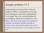 sample problem 17 4