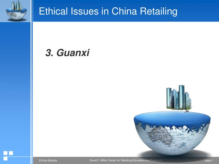 ethical issues in china retailing n.
