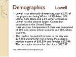 demographics lowell