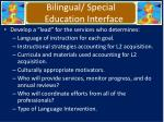 bilingual special education interface