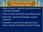 issues of counseling for multicultural clients