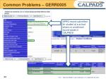 common problems gerr00051