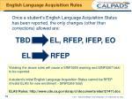 english language acquisition rules