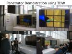 penetrator demostration using tdw