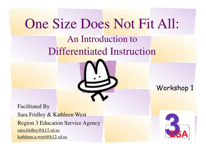 one size does not fit all an introduction to differentiated instruction n.