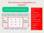 data intensive computations in assist