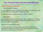 the practical side of system identification9