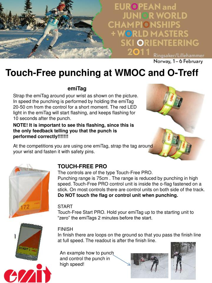 touch free punching at wmoc and o treff n.