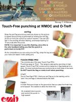 touch free punching at wmoc and o treff