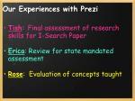 our experiences with prezi