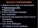 genetic mechanisms