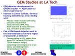 gem studies at la tech