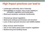 high impact practices can lead to