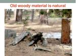 old woody material is natural