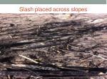 slash placed across slopes