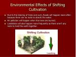 environmental effects of shifting cultivation