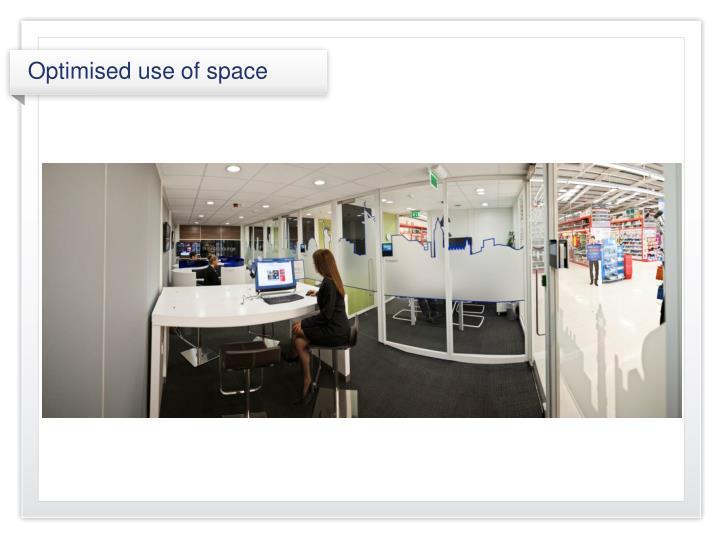 Optimised use of space