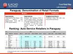 ranking auto service retailers in paraguay