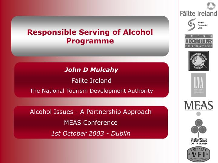 responsible serving of alcohol programme n.