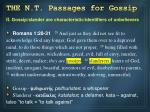 the n t passages for gossip1