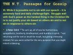 the n t passages for gossip10