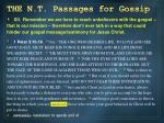 the n t passages for gossip11