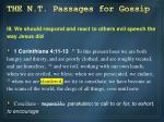 the n t passages for gossip2