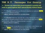 the n t passages for gossip6