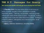 the n t passages for gossip7